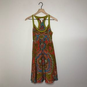 Anthro Moulinette Soeurs Printed Silk Dress